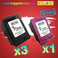 CC653AN CC656AN refillable Inkjet Printer Ink Cartridge for hp901 HP 901XL 901 Officejet 4500 4600 J4550 J4580 J4680.. (3BK+1CL)