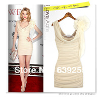 2014 Summer sexy club women one-piece dress slim hip slim basic dress