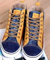 new arrival 2014 men winter snow boots canvas  casual shoes neakers
