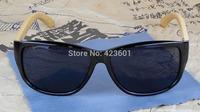 Retail Hand Made Cool Man Hacker Style Eyewear Plain Oval Plastic Frame Nature Bamboo Legs Wooden Sunglasses Uv400 Lens
