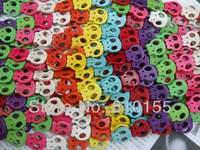 19pcs 22x20mm Flat Skull Howlite Beads Mixed Turquoise Beads 15.5'' Strand