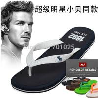Summer flip flops fashion rubber sole male slippers sandals flip anti-slip soles beach slipper