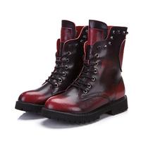 New 2014 Brand Women Motorcycle Boots Winter Summer Ankle Platforms Combat Military Boots Rivet Designer Shoes Woman DGXZ1081