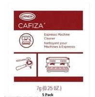 URNEX CAFIZA FIVE PACK ESPRESSO MACHINE CLEANING POWDER 1/4 oz (7g) 5 PACK