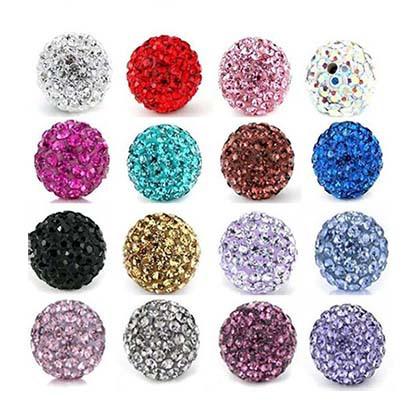 Livraison gratuite, peut mélanger les couleurs, shamballa perles 10mm, bracelet shamballa perles crytal, 10mm disco boule de cristal perles