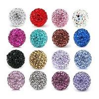 Free Shipping,Can mix colors,Shamballa Beads 10mm,Shamballa Bracelet Crytal Beads,10mm Disco Ball Crystal Beads