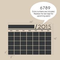 2pcs/lot New 2014 Vinyl DIY Monthly Chalkboard Calendar Blackboard Sticker Planner Wallpaper Wall Decal Stickers Size 56x38cm
