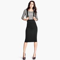 Sexy Midi Skirts Womens Knee-length Adjustable Suspenders Elastic High Waist Plus Size Slim Pencil Skirt Workwear Saias Feminina
