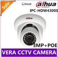 1080P Full-HD 3MP Dahua IP Camera Outdoor IPC-HDW4300S IR Network IR Dome Camera ONVIF IP66 Support POE