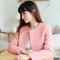 Women's Coats 2014 Autumn and Winter Woolen Outerwear Female Sweet Cost Long-sleeve Woolen Coat