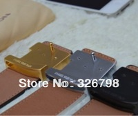 Free shipping real 1:1 high quality belt a full range of packaging metal buckle logo man leather belt belt of a woman