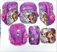 children cartoon bag New Fabric Zipper Child Cartoon frozen bag Children Student school bags mochila infantil frozen backpack