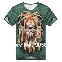 2015 Funny 3D Tshirt Bike Motorcycle Women/Men Brand Fashion Leopar Lion Skull  Athletic Tshirt  Free Shipping