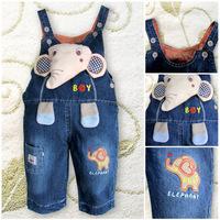 Woven children's clothing factory outlets Korean Bib overalls child denim overalls wholesale baby TZ17005