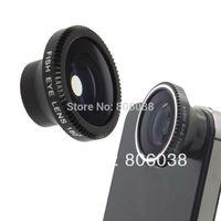Black Detachable Magnetic 180 Degree Fish Eye Fisheye Lens  for IP 5S 5C 5 4S 4 Samsung