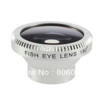 Silver Detachable Magnetic Wide 180 Degree Fish Eye Fisheye Lens  for IP 5S 5C 5 4S 4 Mobile Samsung