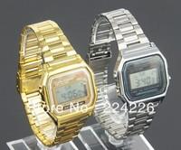 Fashion LED sports watch foreign trade wristwatch 91w steel belt of thin digital watch f91 & A159