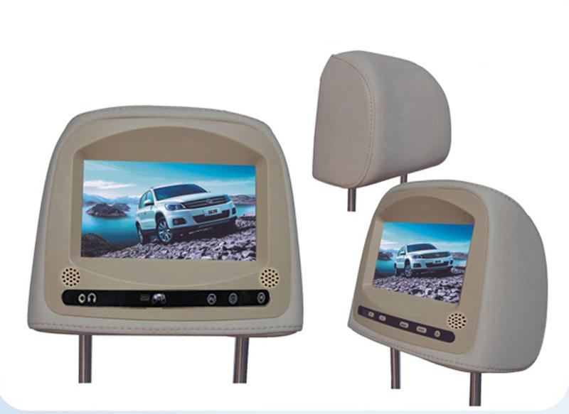 "7"" inch lcd tft headrest dvd player monitors car headrest monitor dvd player fit for vw passat(China (Mainland))"