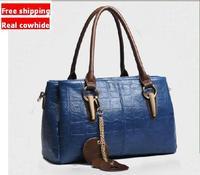 Bags 2014 Women'S Handbag Female Genuine leather Cowhide Handbag Shoulder Bag Messenger Bag large leather Waxing oil