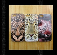 Free Shipping TPU  Case for Iphone4/4s tiger head case for iphone4 soft Rubber protective case   tiger skin  for iphone4 case
