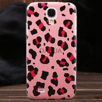 Free Shipping European Style Colored Drawing Leopard Pattern Plastic Protective Back Cover Case for Samsung Galaxy S4 I9500