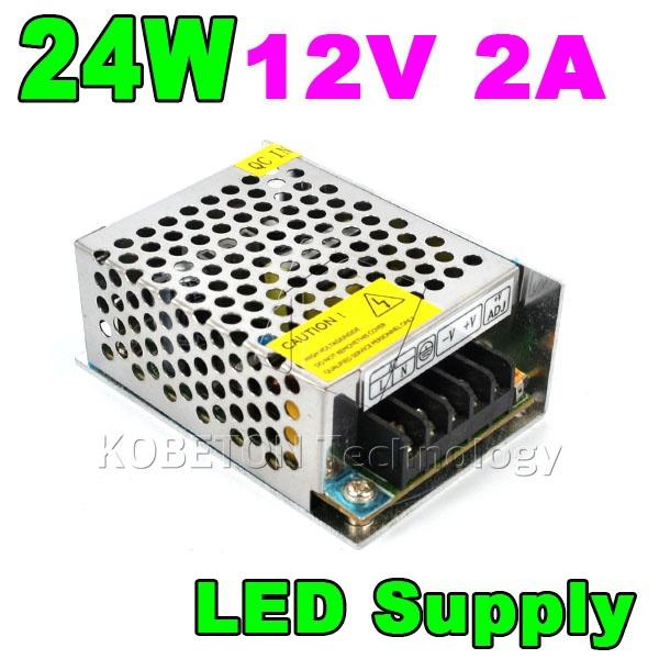 12V 2A 24W LED Lamp Driver Lighting Transformer 110V-220V Converter for 3528 5050 5730/5630 SMD LED Strip Power Supply Switch(China (Mainland))
