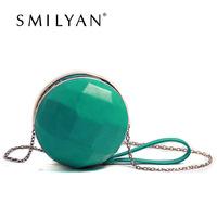 Smilyan New 2014 PU leather fashion women evening clutch sweet women coin purse women mini handbags messenger bags free shipping