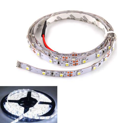 Hot Sale 3FT 1M 12V Flexible 60 LED 1210 SMD Strip Light White 2 Car Decoration Light #4382(China (Mainland))