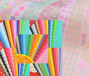 88PCS Felt Fabric Polka Dot + Heart Printed +8 COLORFUL PRINTED SOFT Felt Handicraft 15cm X 15cm great Promotion(China (Mainland))