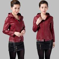 jaqueta couro  Outerwear & Coats spring autumn women short design jacket fashion slim jacket SIZE L-5XL