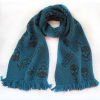 Big sale!!  thick blue silk  wool men scarf winter free shipping