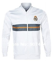 Free delivery service! 14-15new real Madrid white/Thailand quality/football training coat jacket/football training jersey