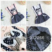 up $199 Mix order EMS/FEDEX to AU/US/UK/FR/NL/CA girl pattern polka-dot strap girls dress dresses kid apparel 13OCT40-LIU-LQ-1