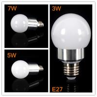 10pcs/lot High quality Dimmable Light COB LED Global Bulb E27 3W 5W 7W Cool White/Warm White LED Bulb Light Lamp Free Shipping