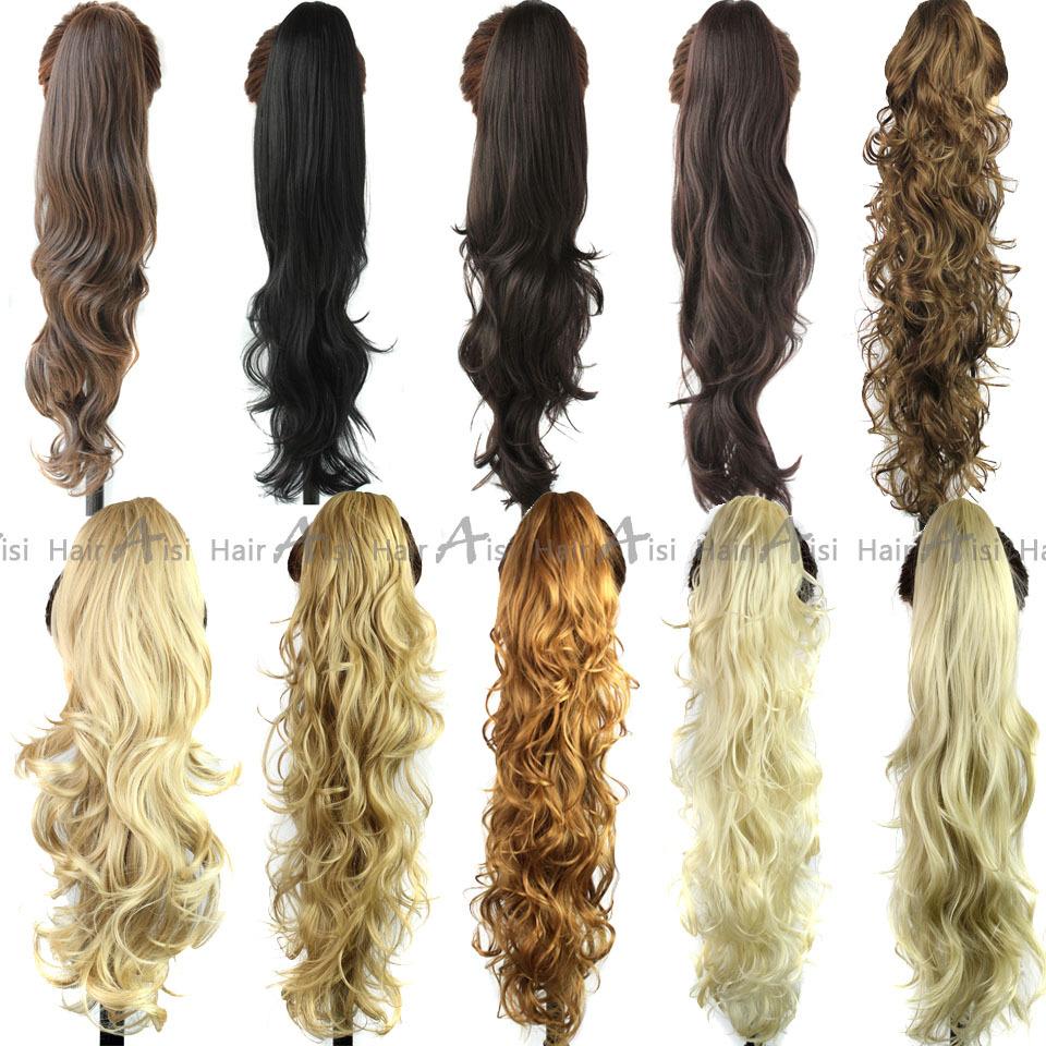 Curly Wavy Claw Drawstring Clip False Ponytail natural Hair Extension ...
