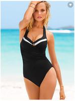 NEW! CONTRAST HALTER ONE-PIECE  swimwear beach dress whole sale