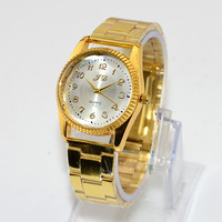 Free Shipping New 2014 Fashion Casual Luxury Wristwatch Women Alloy Band Gold Watches Quartz Watch Lady Women's Dress Watches