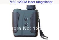Hot selling 1200M 7*32 outdoor laser rangefinder for golf/hunting, telescope Laser Distance Meter,Handheld outdoor range finder