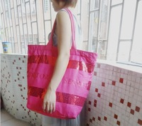 VS female money piece of canvas bag shoulder bag beach pink  bag mummy bag handbag victoria bag
