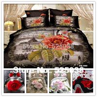 Wholesale6 PCS Free Shipping 3d Classic home decor 3D Bed Linen bedding set bedlinen duvet cover set (New Pattern -5)