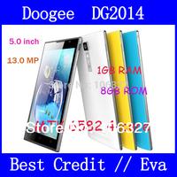 "DOOGEE DOOGEE TURBO DG2014 5"" IPS OGS 6.3mm Ultrathin 13MP Camera MTK6582 Android 4.2.2 Quad Core 1GB RAM 8GB ROM smartphone/Eva"