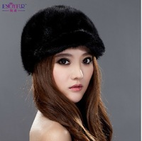 2014 Excellent mink cap   Genuine Women's Mink Fur Hat beautiful fashion style winter cap