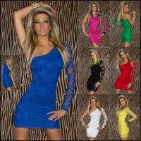 Black White 7 Colors Sexy Women Lace Dress Plus Size XXL Vestidos Bodycon Party Club Dresses Long Sleeve Casual Dress Free Ship