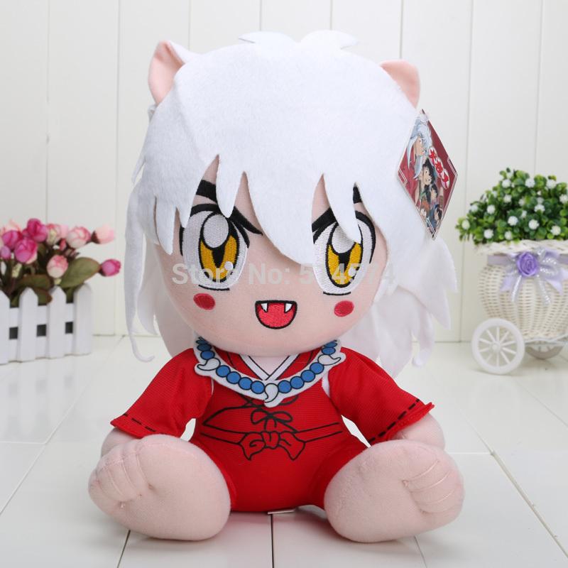 12 inch Japanese Anime Cartoon Inuyasha Plush Toy Plush Doll Figure Toy Chritmas Gift retail(China (Mainland))