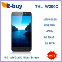 "Original THL W200C Android 4.2 Mobile Phone MTK6592M Octa Core Phone 1.4GHz  1GB RAM 8GB ROM 5.0"" IPS Screen 8.0MP Camera"
