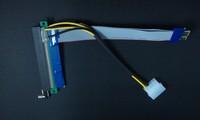 10PC 25CM PCI-E 1X to 16X Slot Riser with Capicity Molex Extender Card PCIE Extension Ribbon Flex Relocate Cable Bitcoin Miner