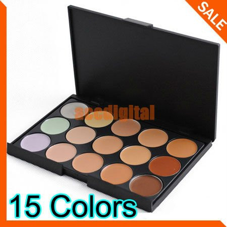 New 2014 Concealer Neutral Palette 15 colors makeup tools eye scar cream concealer Camouflage Makeup(China (Mainland))