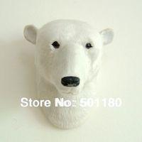 free shipping animal polar bear head wall hanging decoration