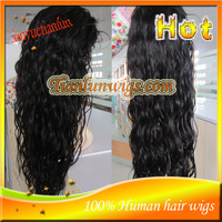 Stock!!! #1B Loose Wave Full Lace Human Hair Wigs Brazilian Virgin Human Hair Lace Front Wigs For Black Women