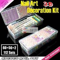 112 pcs Nail tools Kit DIY art decoration kit female tools set creative nail design products 5056